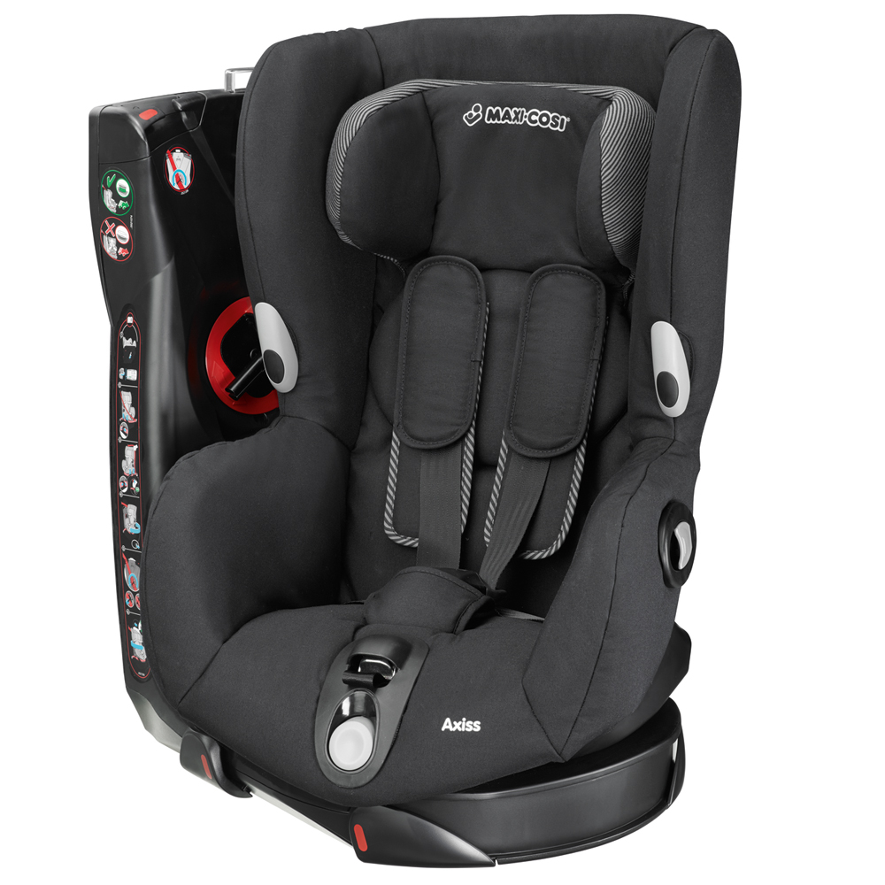 maxi cosi axiss group 1 car seat a graded 2015 in black raven rrp 210 ebay. Black Bedroom Furniture Sets. Home Design Ideas