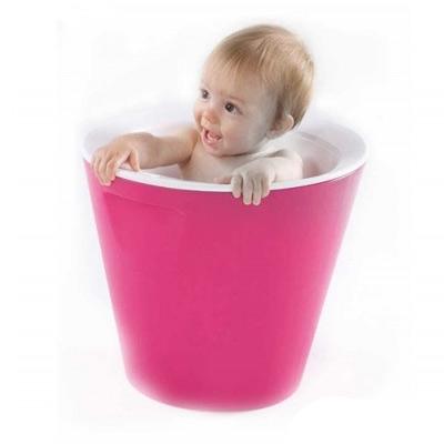 new hoppop bano baby bath tub double skinned in fuchsia. Black Bedroom Furniture Sets. Home Design Ideas