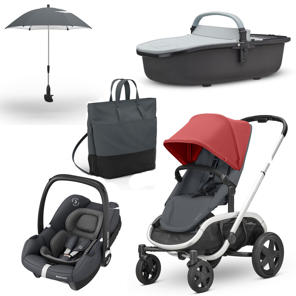Quinny-Hubb-Pushchair-Hux-Carrycot-Tinca-Car-Seat-amp-Accessories-Bundle-RRP-1075